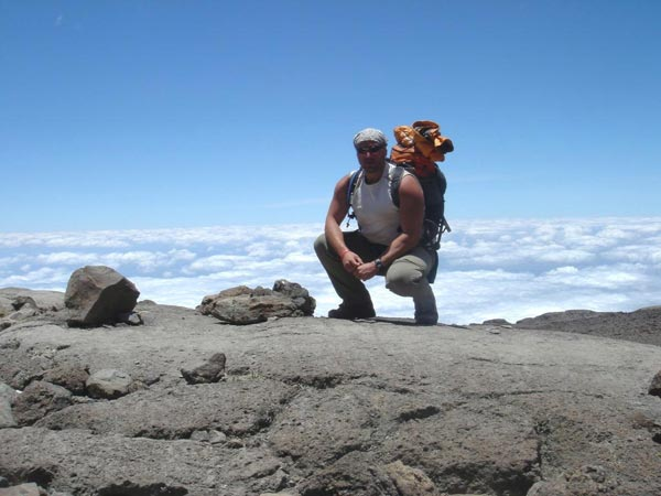 Climbing Kilimanjaro - above the clouds